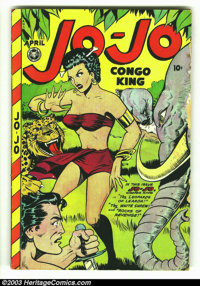Jo-Jo Comics #14 (Fox Features Syndicate, 1948) Condition: GD/VG. Overstreet 2003 GD 2.0 value = $48; VG 4.0 value = $96...
