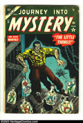 Golden Age (1938-1955):Horror, Journey into Mystery #19 (Marvel, 1954) Condition: VG 4.0.Overstreet 2003 VG 4.0 value = $84....