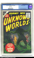 Golden Age (1938-1955):Horror, Journey into Unknown Worlds #38 (Atlas, 1955) CGC FN- 5.5 Off-whiteto white pages. John Severin artwork. Overstreet 2003 FN...