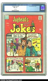 Jughead's Jokes #4 (Archie, 1968) CGC NM+ 9.6 White pages. Overstreet 2003 NM 9.4 value = $30