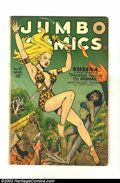Golden Age (1938-1955):Adventure, Jumbo Comics #97 (Fiction House, 1947) Condition: VG+. Headlight galore on this Sheena cover. Overstreet 2003 VG 4.0 value =...