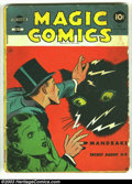 Golden Age (1938-1955):Miscellaneous, Magic Comics #17 (David McKay Publications, 1940) Condition: GD. Mandrake the Magician, Blondie, Henry, Popeye, and more. Th...
