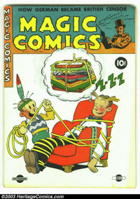 Magic Comics #41 (David McKay Publications, 1942) Condition: FN+. Mandrake the Magician, the Lone Ranger, Blondie, Henry...