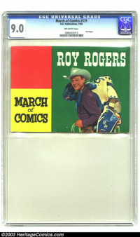 March of Comics #131 Roy Rogers (K. K. Publications, Inc., 1955) CGC VF/NM 9.0 Off-white pages. Photo cover. Far and awa...