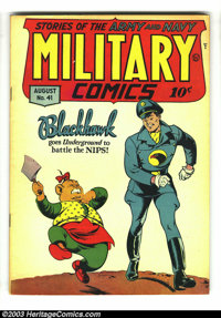 Military Comics #41 (Quality, 1945) Condition: FN. Al Bryant cover. Overstreet 2003 FN 6.0 value = $165