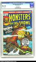 Bronze Age (1970-1979):Horror, Monsters on the Prowl #27 (Marvel, 1973) CGC NM- 9.2 Off-whitepages. Highest-graded copy yet certified by CGC for this issu...