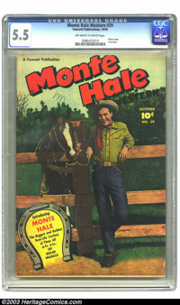 Monte Hale Western #29 (Fawcett, 1948) CGC FN- 5.5 Off-white to white pages. Photo cover. This is the very first issue...