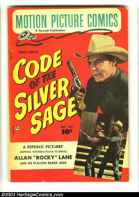 "Motion Picture Comics #102 (Fawcett, 1951) Condition: VG. Rocky Lane in ""Code of the Silver Sage."" Overstreet..."