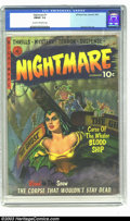 Golden Age (1938-1955):Horror, Nightmare #1 (Ziff-Davis, 1952) CGC FN/VF 7.0 Cream to off-whitepages. Ghost pirate painted cover. George Tuska art. One pa...