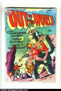 Golden Age (1938-1955):Science Fiction, Out of This World #1 (Avon, 1950) Condition: FR 1.0. Crom theBarbarian by Gardner Fox and John Guinta. Overstreet 2003 GD 2...