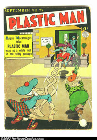 Plastic Man #25 (Quality, 1950) Condition: GD+. Jack Cole cover and art. Overstreet 2003 GD 2.0 value = $44