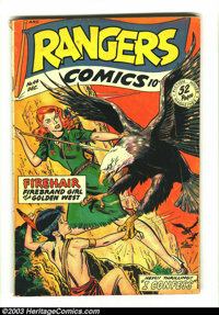 Rangers Comics #44 (Fiction House, 1948) Condition: GD/VG. Bob Lubbers cover. Lubbers, George Evans, and Charles Sultan...