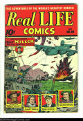Golden Age (1938-1955):Non-Fiction, Real Life Comics #25 (Nedor Publications, 1945) Condition: VG.World War II cover. Overstreet 2003 FN 6.0 value = $33....