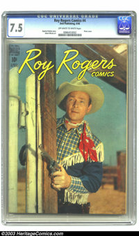 Roy Rogers Comics #4 (Dell, 1948) CGC VF- 7.5 Off-white to white pages. Photo cover. Albert Micale art. Highest-graded c...
