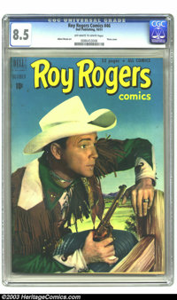 Roy Rogers Comics #46 (Dell, 1951) CGC VF+ 8.5 Off-white to white pages. Photo cover. Albert Micale art. Highest-graded...