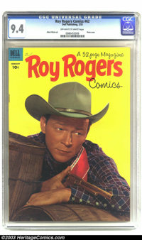 Roy Rogers Comics #62 (Dell, 1953) CGC NM 9.4 Off-white to white pages. Attractive issue with a nice photo cover of Roy...