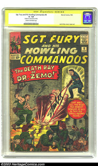 Sgt. Fury and His Howling Commandos #8 (Marvel, 1964) CGC GD- 1.8 Cream to off-white pages. Signature Series. Jack Kirby...