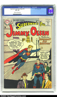 Superman's Pal Jimmy Olsen #19 (DC, 1957) CGC VF+ 8.5 Cream to off-white pages. Highest-graded copy yet certified by CGC...