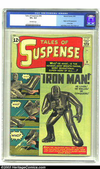 Tales of Suspense #39 (Marvel, 1963) CGC VF+ 8.5 Off-white pages. Origin and first appearance of Iron Man. Jack Kirby co...