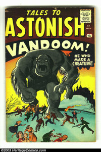 """Tales to Astonish #17 (Marvel, 1961) Condition: FN. """"Vandoom"""" is the cover-monster for this issue. Jack Kirby..."""