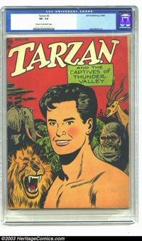 Tarzan #2 (Dell, 1948) CGC VF- 7.5 Cream to off-white pages. Second issue in hard-to-find high-grade! Jesse Marsh art. O...
