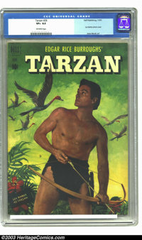 Tarzan #26 (Dell, 1951) CGC VF+ 8.5 Off-white pages. Lex Barker photo cover. Jesse Marsh art. Overstreet 2003 VF 8.0 val...