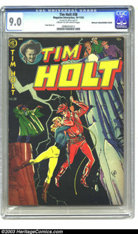 Tim Holt #38 Mohawk Valley pedigree Double Cover (Magazine Enterprises, 1953) CGC VF/NM 9.0 Cream to off-white pages. Fr...