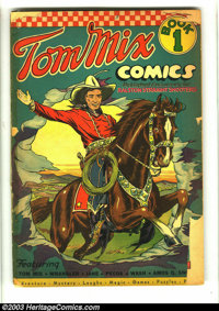 Tom Mix Comics #1 (Ralston-Purina Co., 1940) Condition: FR/GD. Origin (life) Tom Mix. Fred Meagher art. Ralston-Purina p...
