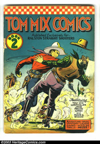 Tom Mix Comics #2 (Ralston-Purina Co., 1940) Condition: FR/GD. Promotional series from Ralston-Purina. Spine totally spl...