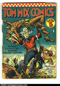 Tom Mix Comics Group (Ralston-Purina Co., 1941). This lot consists of issues #5, 6, 8, 9, and 10, with an average grade...