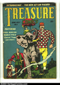 Golden Age (1938-1955):Adventure, Treasure Comics #1 (Prize, 1945) Condition: VG+. Paul Bunyan and Marco Polo begin. Overstreet 2003 VG 4.0 value = $80. ...