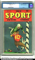 Golden Age (1938-1955):Non-Fiction, True Sport Picture Stories V4 #11 Mile High pedigree (Street &Smith, 1949) CGC FN/VF 7.0 Off-white pages. Overstreet 2002 F...