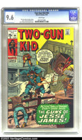 """Bronze Age (1970-1979):Western, Two-Gun Kid #94 (Marvel, 1970) CGC NM+ 9.6 White pages. """"The Guns of Jesse James!"""" Highest CGC graded copy. Overstreet 2003 ..."""