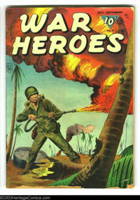 War Heroes #9 (Dell, 1944) Condition: GD+. Painted cover. Several small pieces off lower front cover. Overstreet 2003 GD...