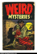 Golden Age (1938-1955):Horror, Weird Mysteries #12 (Gillmor, 1954) Condition: GD/VG 3.0. Ghoulishclassic necrophilia cover. Overstreet 2003 GD 2.0 value =...