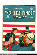 Golden Age (1938-1955):Superhero, World's Finest Comics #6 (DC, 1942) Condition: GD/VG. This book has a really cool cover from 1942. It's another solid book f...
