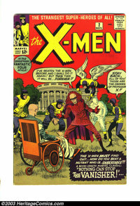 X-Men #2 (Marvel, 1963) Condition: Apparent 4.5. Top edge trimmed. First appearance of the Vanisher. Overstreet 2003 VG...