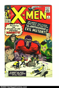 X-Men #4 (Marvel, 1964) Condition: FN- 5.5. First appearance of Quicksilver and Scarlet Witch. Overstreet 2003 FN 6.0 va...