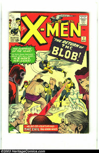 X-Men #7 (Marvel, 1964) Condition: VG+. Magneto and the Blob appear. Overstreet 2003 VG value = $64
