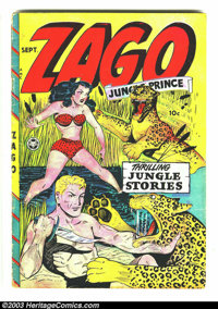 Zago #1 (Fox Features Syndicate, 1948) Condition: GD/VG. Blue Beetle appearance. Overstreet 2003 GD 2.0 value = $60; VG...