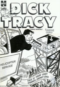 Original Comic Art:Covers, Al Avison (attributed) - Original Cover Art for Dick Tracy #77(Harvey, late '50s). Dick Tracy pulls out the big guns to put...