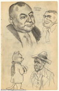 Original Comic Art:Sketches, Robert Crumb - Original Sketches, George Weiss and More (1961). From the formative years of Underground legend R. Crumb come...