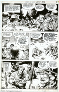 Original Comic Art:Panel Pages, Russ Heath - Original Art for Our Army at War #232, pages 6 and 7 (DC, 1970). French soldiers turn K-rations into a feast fi...