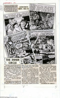 Original Comic Art:Miscellaneous, Production Art - Contents Page for Chamber of Chills #12 (AllStats) (Harvey, 1952). Production art used for the contents pa...