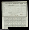 Stocks and Bonds:Certificates with Significant Autographs, Millard Fillmore - Hudson and Berkshire Railroad (New York)...