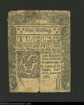 Colonial Notes:Connecticut, June 7, 1776, 1s, Connecticut, CT-194, Fine-VF. The body of ...