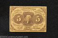 Fractional Currency:First Issue, First Issue 5c, Fr-1230, Fine....