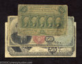 Fractional Currency:First Issue, First Issue 50c, Fr-1312, Very Good, Fourth Issue 50c, Fr-1376,... (3 notes)