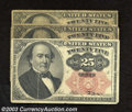 Fractional Currency:Fifth Issue, Fifth Issue 25c, Fr-1308 and two (2) Fifth Issue 25c, Fr-1309, ...(3 notes)