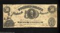 Confederate Notes:1861 Issues, 1861 $50 Washington in center; Tellus on left, T-8, VF-XF. ...